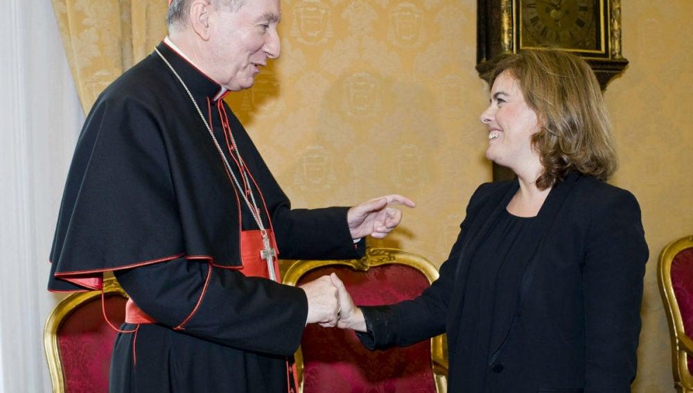 Soraya Saénz de Santamaría en el Vaticano