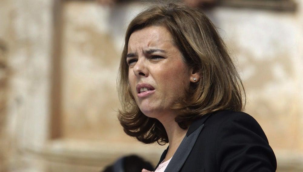 La vicepresidenta, Soraya Sáenz de Santamaría