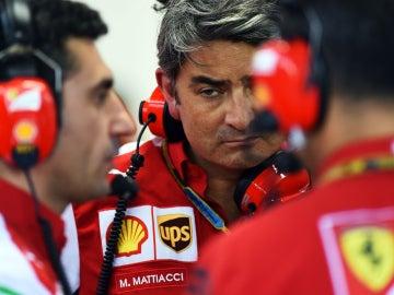 Mattiacci, en el box de Ferrari
