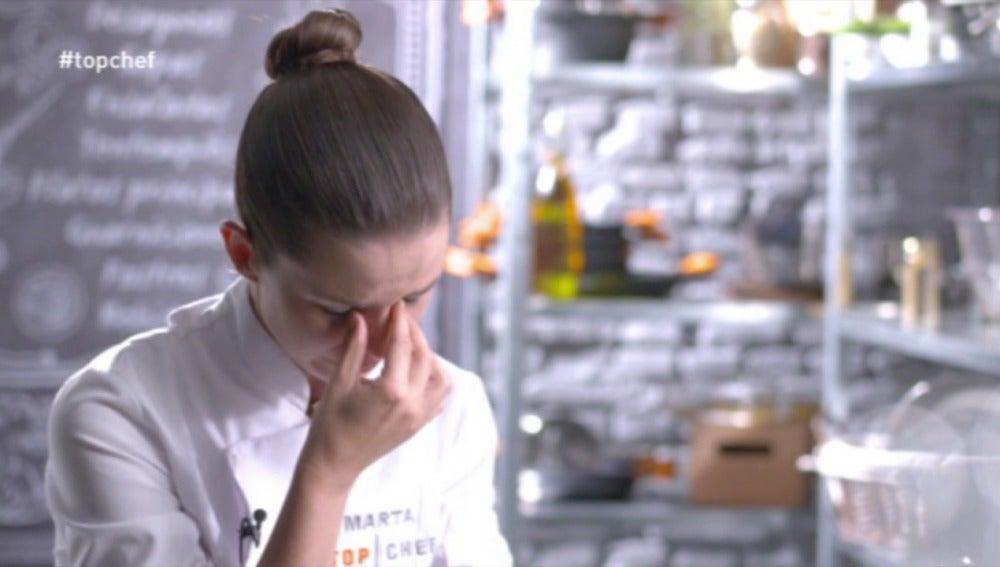 Marta llora decepcionada