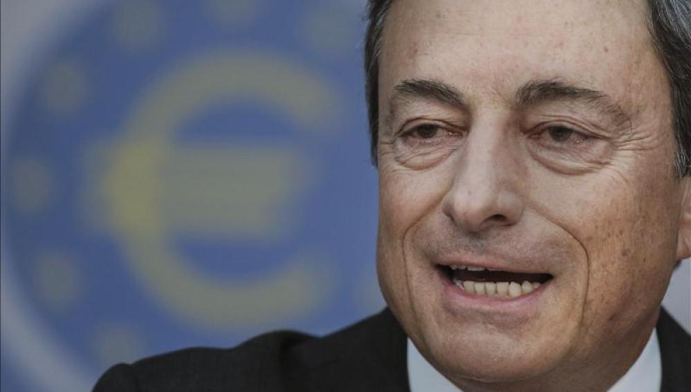 Mario Draghi, durante su comparecencia