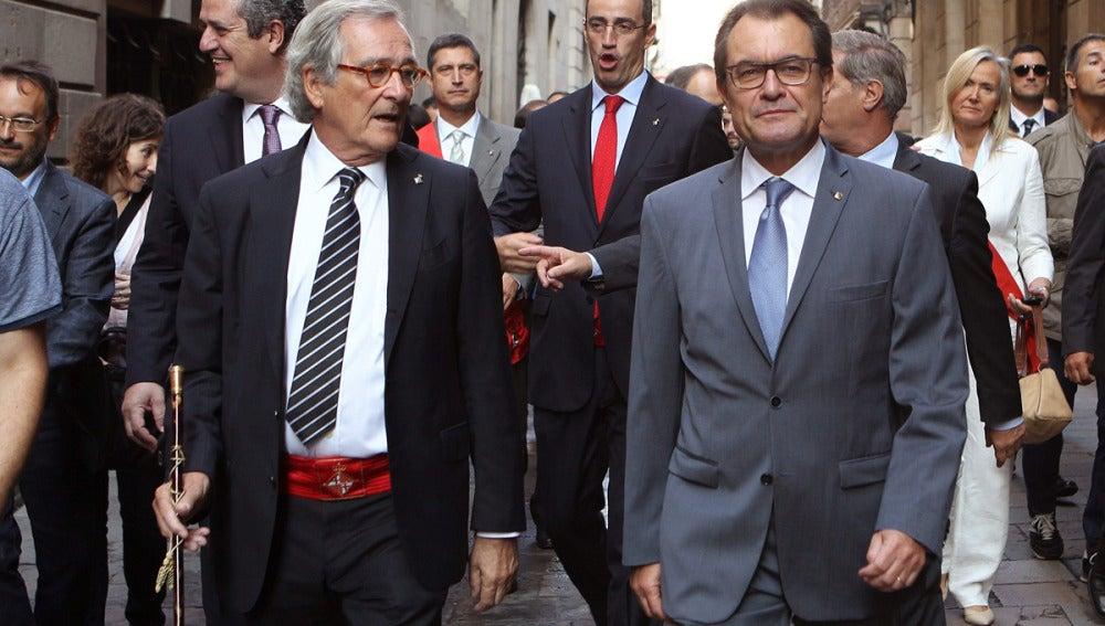 Artur Mas junto a Xavier Trias, alcalde de Barcelona
