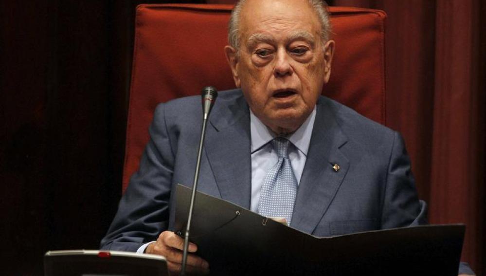 Jordi Pujol, en el Parlamento catalán