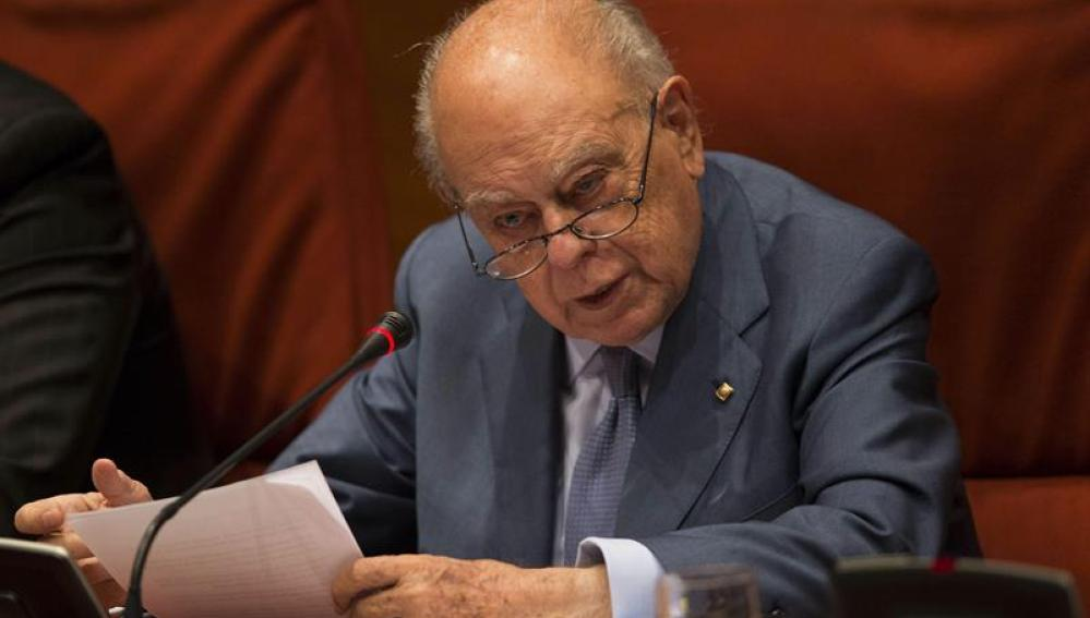 Jordi Pujol, en su comparecencia en el Parlament
