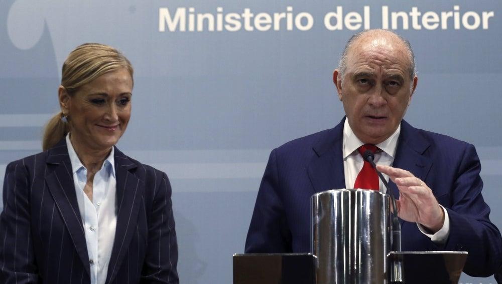 Cristina Cifuentes y Jorge Fernández Díaz