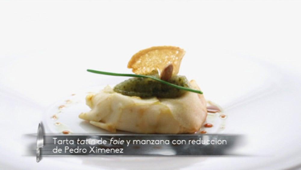 Tatín de manzana y foie gras