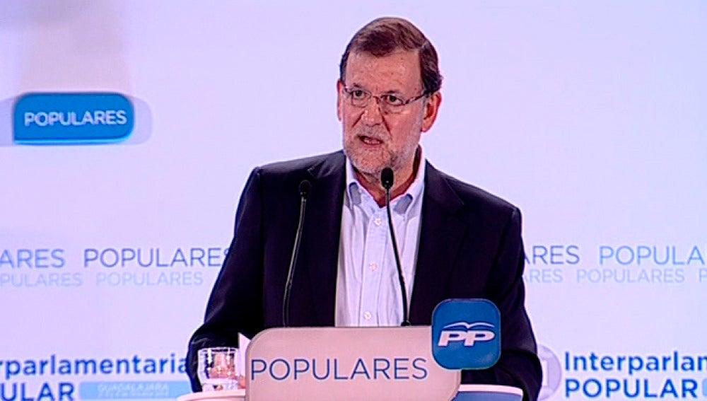 Mariano Rajoy, en la Interparlamentaria del PP