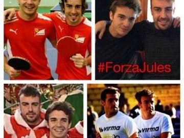 Fernando Alonso apoya a su amigo Jules Bianchi