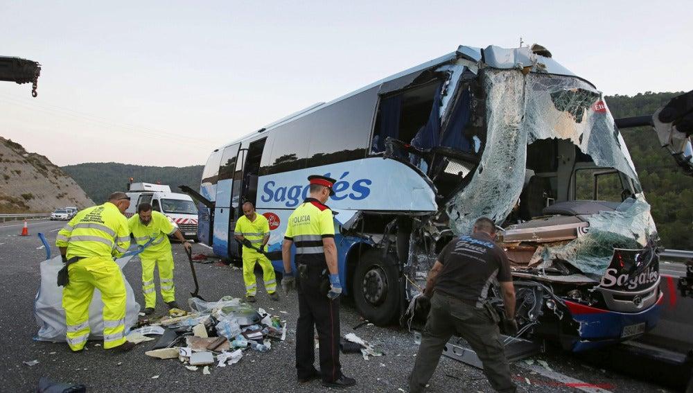 Imagen del accidente ocurrido en Jorbá (Barcelona)