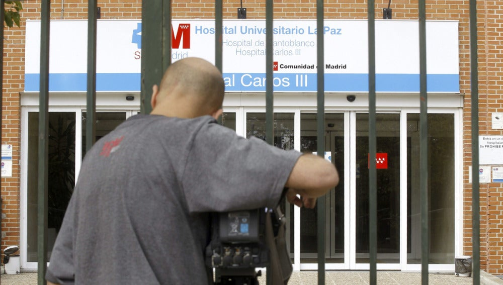 Entrada del hospital Carlos III de Madrid