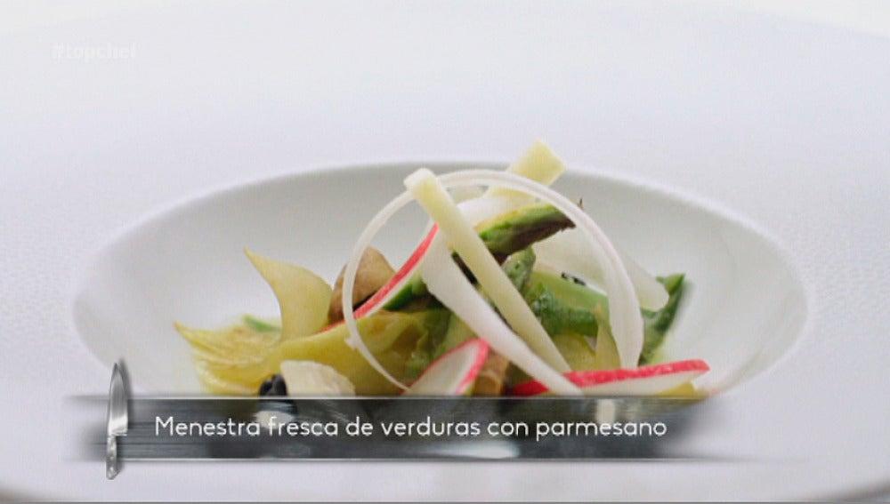 Menestra de verduras con parmesano