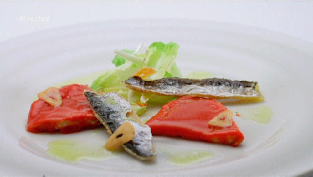 Trampantojo, de sardinas y piquillos