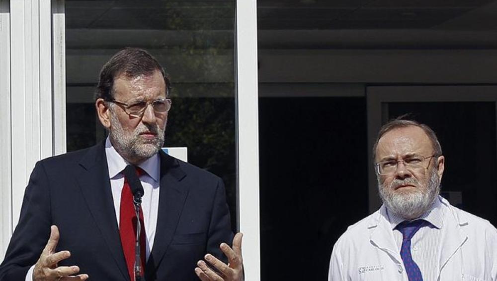 Rajoy visita el Carlos III
