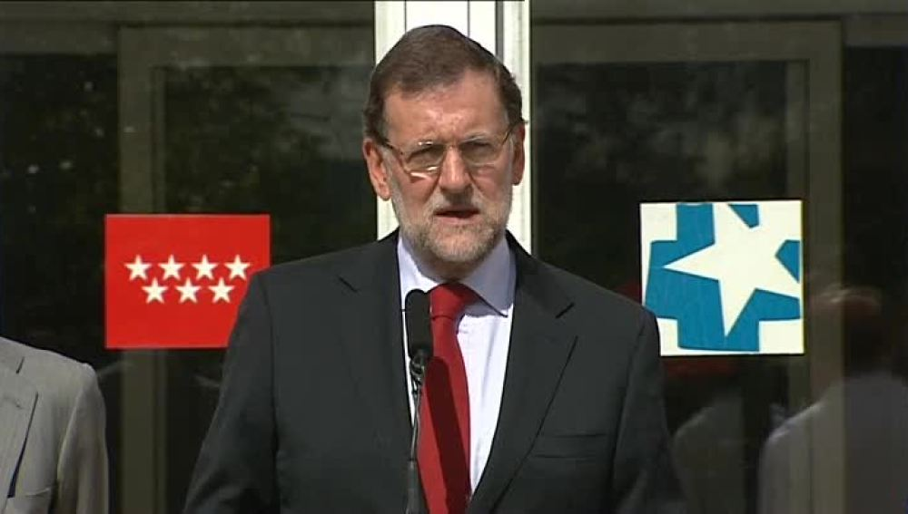 Mariano Rajoy, en el Hospital Carlos III