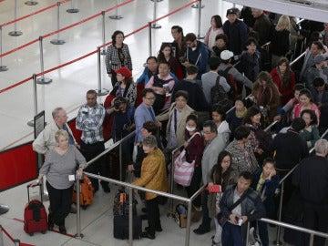 Viajeros en el aeropuerto JFK