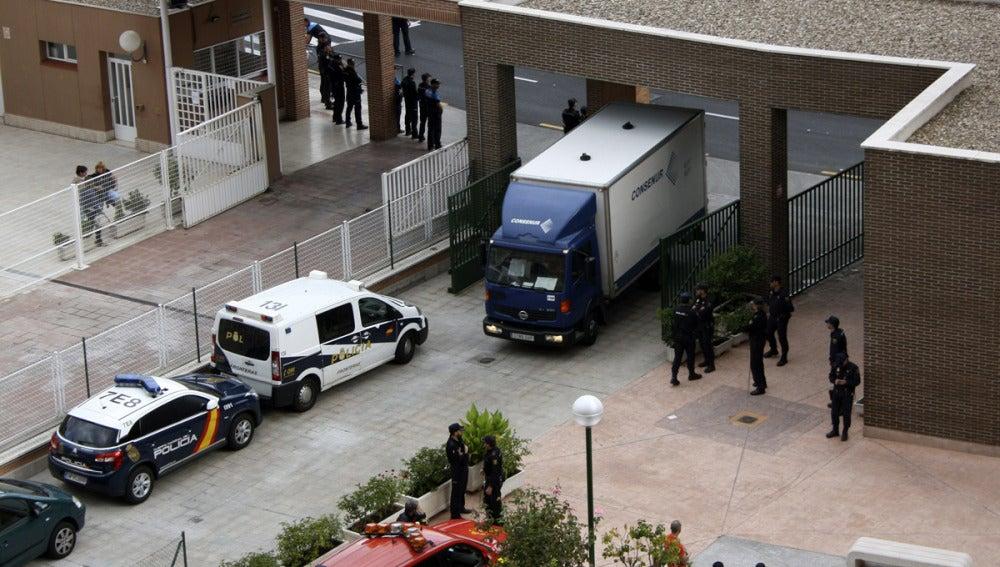 Entrada de la vivienda de la infectada por ébola en Alcorcón