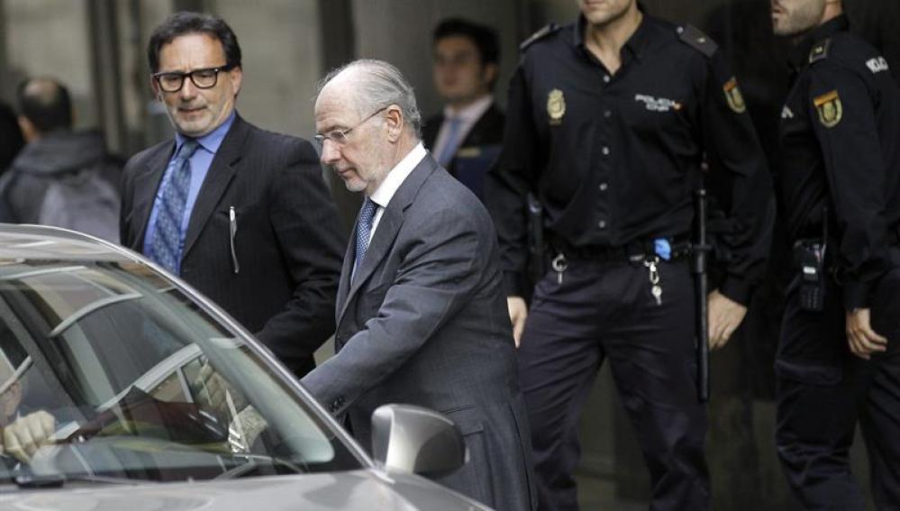 Rodrigo Rato, a su salida de la Audiencia Nacional