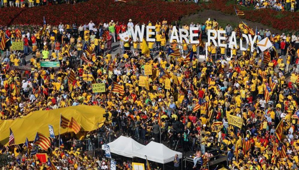 Concentración convocada en la plaza de Cataluña de Barcelona