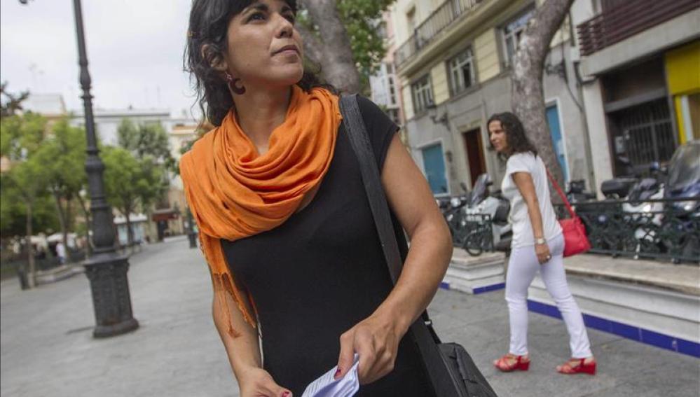 Teresa Rodríguez, candidata de Podemos a la Junta de Andalucía