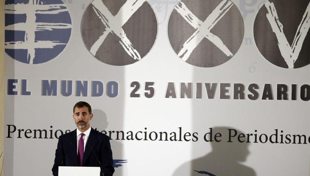 Felipe VI, en el acto del diario 'El Mundo'