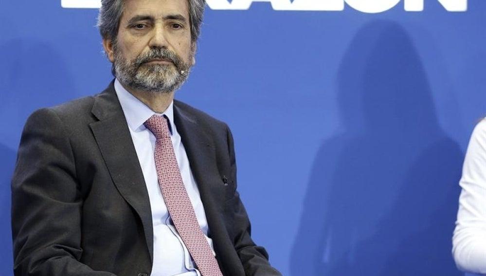 Carlos Lesmes en un acto de La Razón.