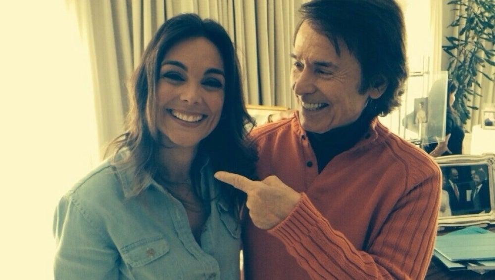 Raphael, junto a Mónica Carrillo