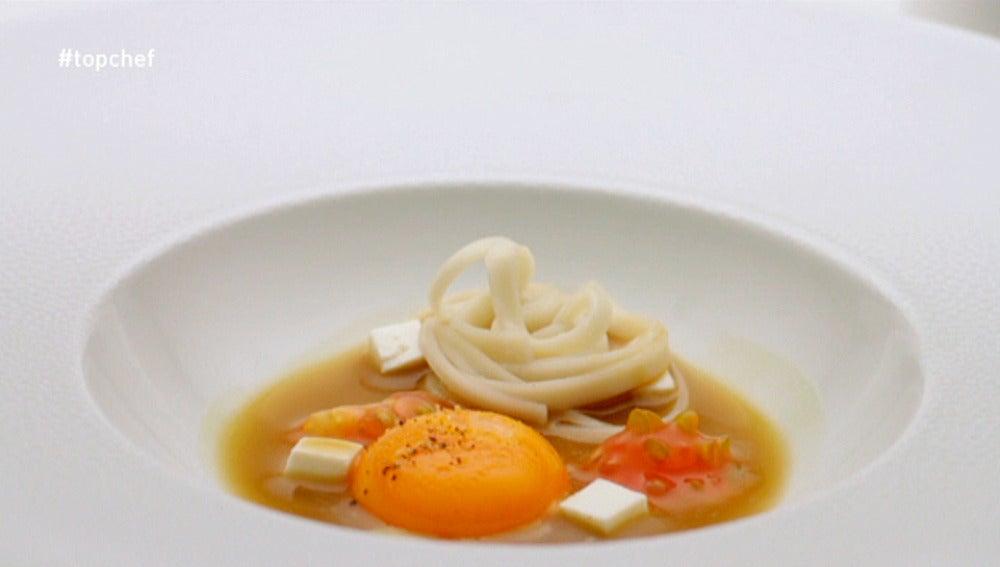 Huevos sopa japollana