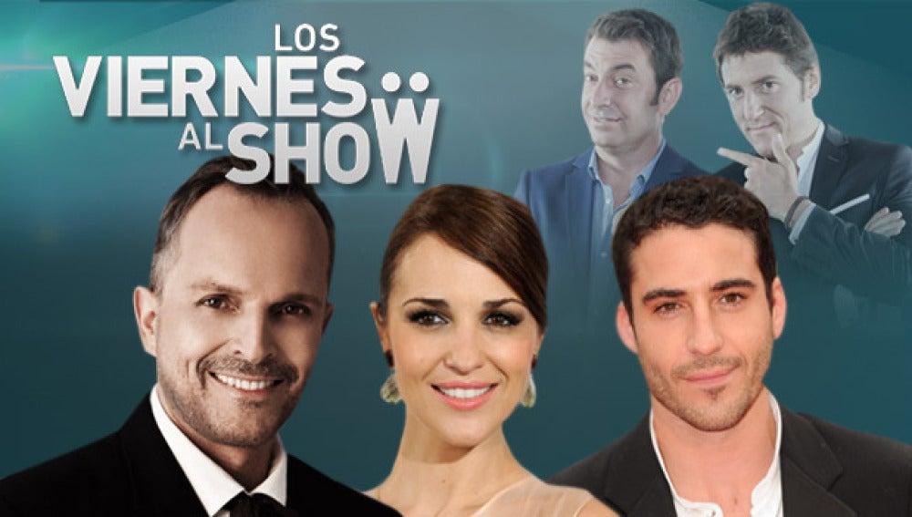 Miguel Ángel Silvestre, Paula Echevarría y Miguel Bosé, los invitados de 'Los viernes al show'