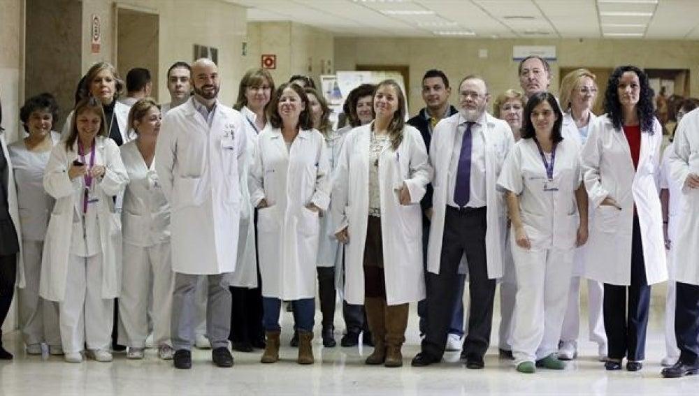 El equipo médico que ha atendido a Teresa Romero.