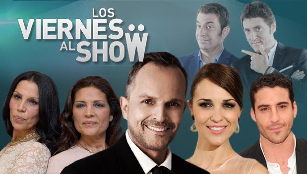 Miguel Ángel Silvestre, Paula Echevarría, Miguel Bosé y Azúcar Moreno, los invitados de 'Los viernes al show'
