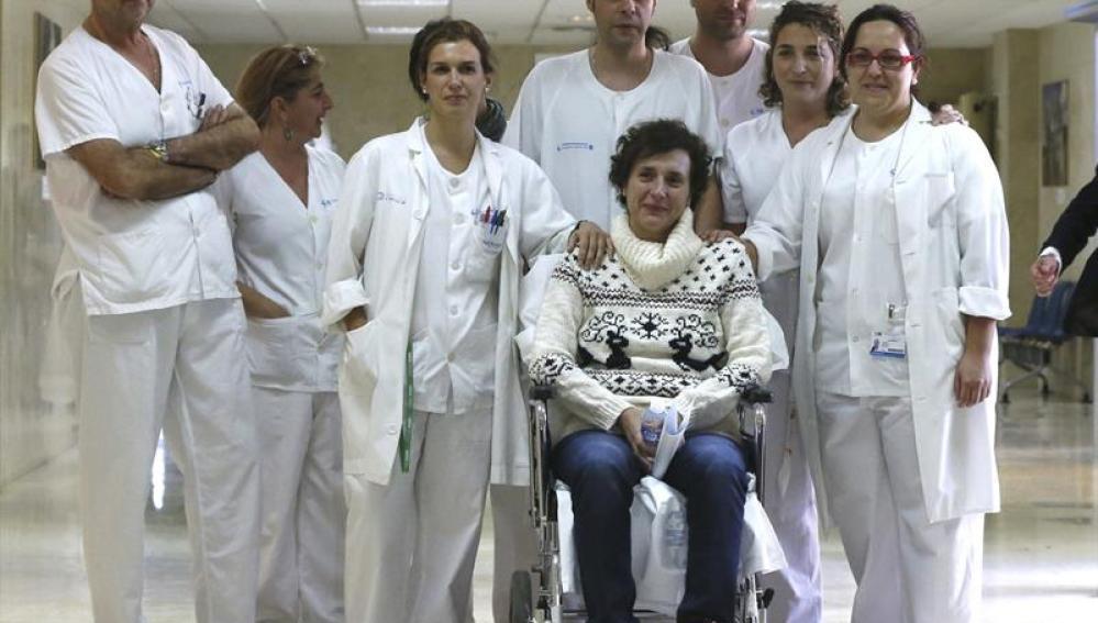 Teresa Romero, que ha sido dada de alta tras superar el ébola