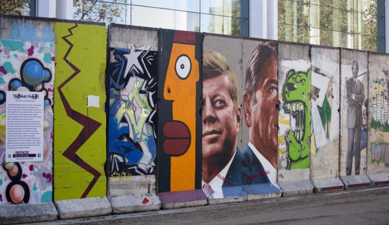 Resto del muro en el Berlín actual