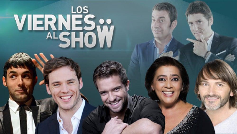 Fernando Tejero, Pablo Alborán, María del Monte, el Mago pop y Samuel George Claflin en 'Los viernes al show'