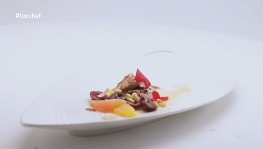 Lechazo con frutas