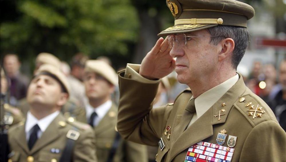 El Jefe de Estado Mayor del Ejército de Tierra, general Jaime Domínguez Buj
