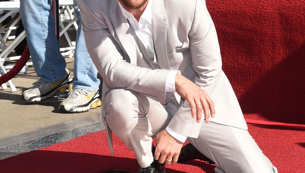 El actor ya tiene su estrella en el Paseo de la Fama
