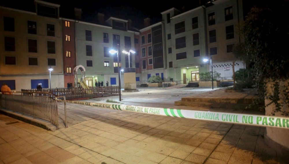 Lugar en el que un vecino de la localidad asturiana de San Juan de la Arena ha matado a sus dos hijas de 7 y 9 años