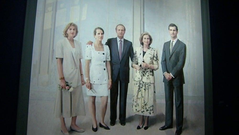 Desvelado por fin el cuadro de 'La Familia de Juan Carlos I' de Antonio López