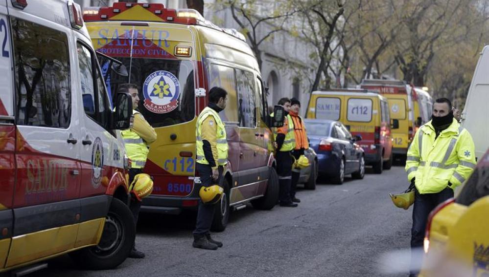 Servicios de emergencias en Madrid