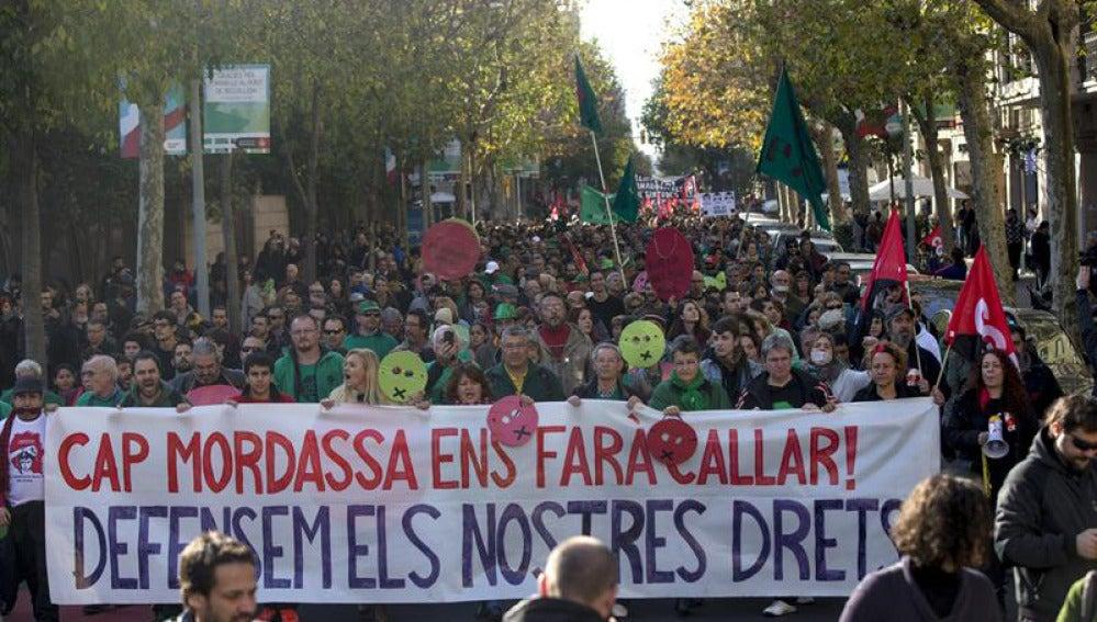 Manifestaciones contra la 'ley mordaza'