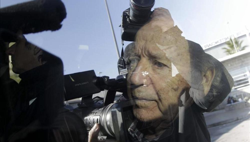 José Luis Núñez a su salida de prisión.