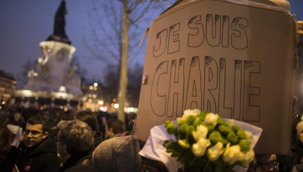Marcha bajo el lema 'Je suis Charlie'