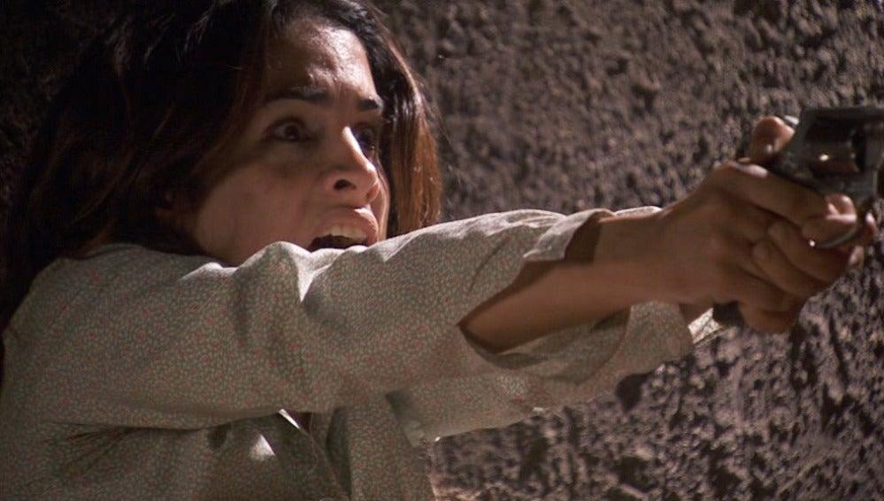 Inés dispara a Melchor, dándole muerte