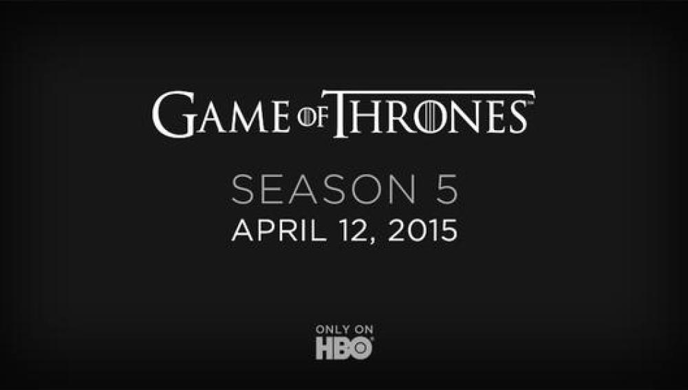 Twit del estreno de la quinta temporada de 'Juego de tronos'