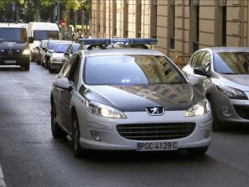 Coche de la Guardia Civil en la Audiencia Nacional
