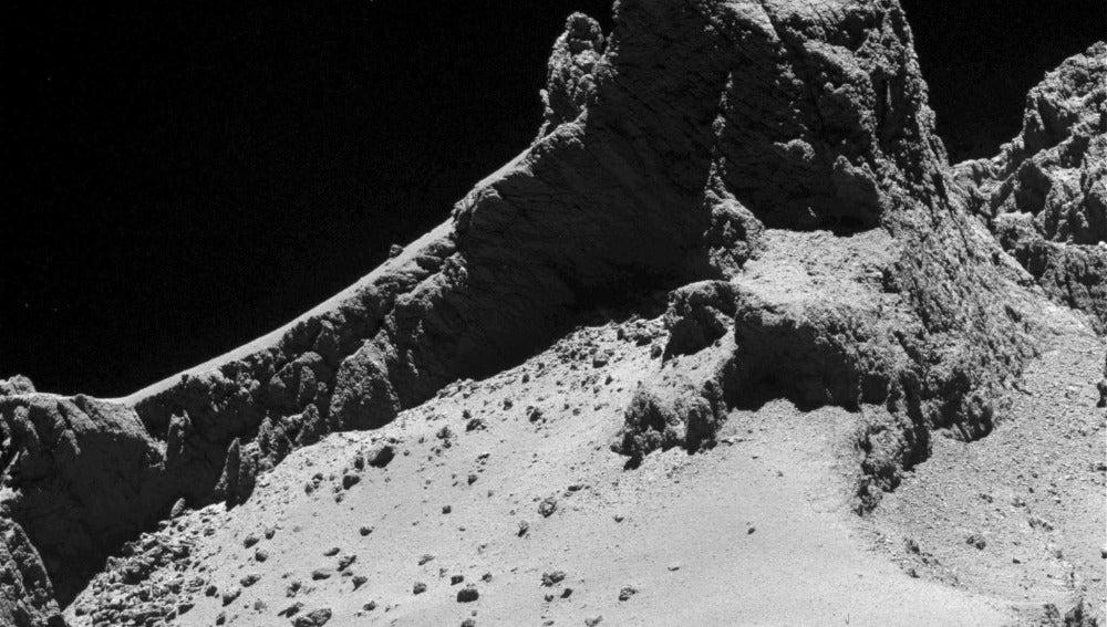 La imagen más completa de un cometa en movimiento