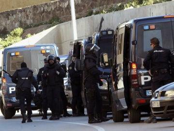 Dispositivo policial en Príncipe