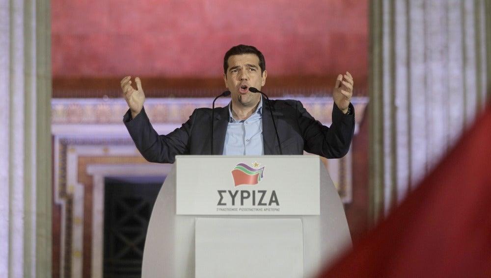 Tsipras, tras ganar las elecciones en Grecia