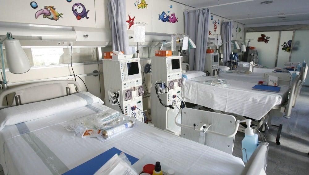 Sala infantil Hospital Vall d'Hebron