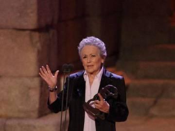 Amparo Baró, emocionada por su galardón del Festival de Mérida en 2007